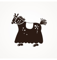 Suit horse for two people vector image
