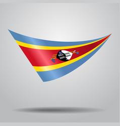 Swaziland flag background vector