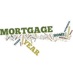 The new year mortgage text background word cloud vector