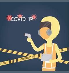 Virus covid 19 quarantine staff medical vector
