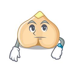 Waiting chickpeas mascot cartoon style vector