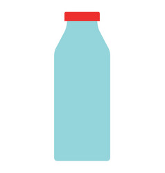 Yoghurt in a glass bottle flat isolated vector