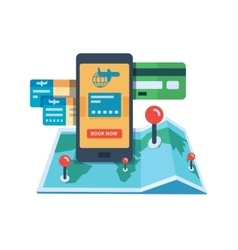 Booking travel online concept vector image