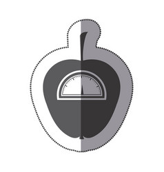 contour apple weight scale icon vector image vector image