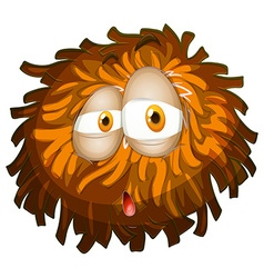 Fluffy ball with face vector