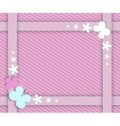 pink frame for girls vector image vector image
