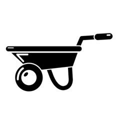 wheelbarrow icon simple style vector image vector image