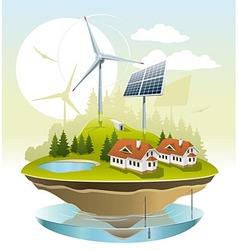 Ecovillage vector image