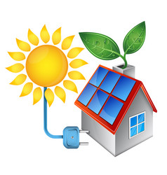 electricity from solar energy vector image