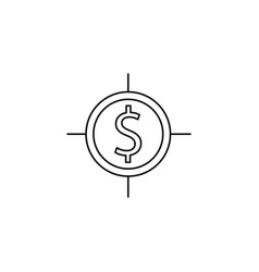 money target line icon vector image