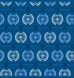 nautical background wind rose vector image vector image