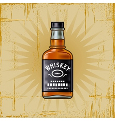 Retro Whiskey Bottle vector image