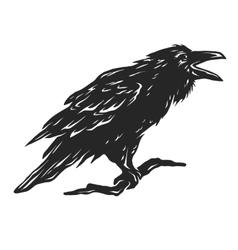 Screaming black crows vector image vector image