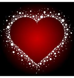 white heart frame background vector image