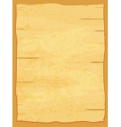 yellow crumpled papyrus paper Old sheet vector image