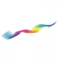 color pixel wave vector image vector image