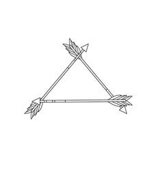 Line cute arrows element with ornamental design vector