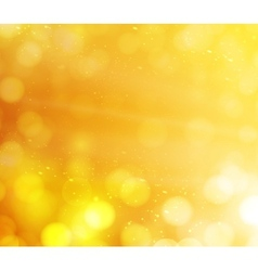 orange bokeh lights abstract background vector image