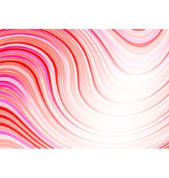 wavy abstract background in red color vector image