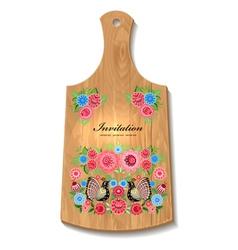 wooden utensil4 vector image vector image