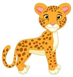 Cite cheetah cartoon vector image vector image