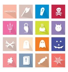 Collection of 16 halloween festival vector