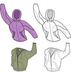 hooded sweatshirt vector image vector image