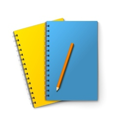 Notepads and pencil vector image vector image