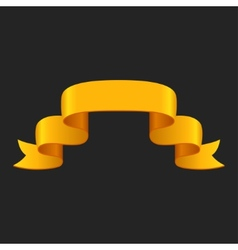 Promotional yellow ribbon on dark background for vector image vector image