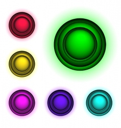 3d buttons vector vector image
