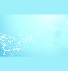 abstract dna molecules structure background vector image