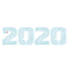 abstract polygonal numbers for new year 2020 with vector image