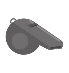 american football whistle referee vector image