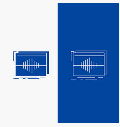 Audio frequency hertz sequence wave line and vector