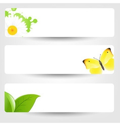 Banners With Butterfly vector image