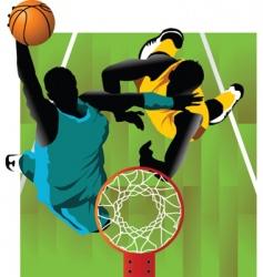 Basket and ball vector