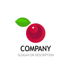 berry logo isolated on white background vector image