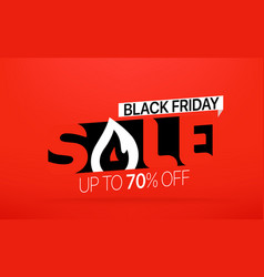 black friday sale banner season sale offer up to vector image