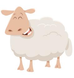 Cartoon sheep animal character vector