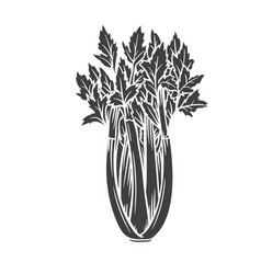 Celery glyph icon vector