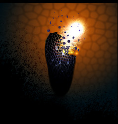 Colourful explosion vector