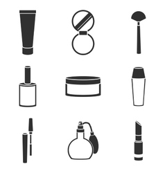 cosmetic icons set vector image