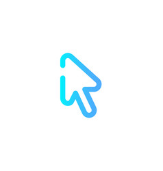cursor icon sign symbol vector image