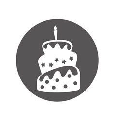 delicious sweet cake icon vector image