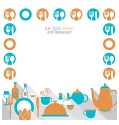 Dinner Restaurant and Eating Frame vector