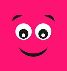 emoticon smile with surprised joyful face vector image