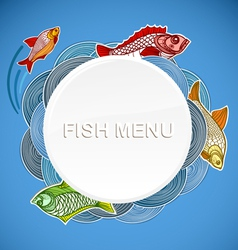 Fish menu template vector image