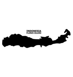 Flat map indonesia - flores island vector