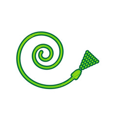 garden hose sign lemon scribble icon on vector image