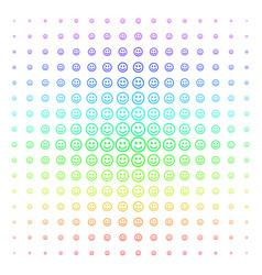 Glad smiley shape halftone spectrum grid vector